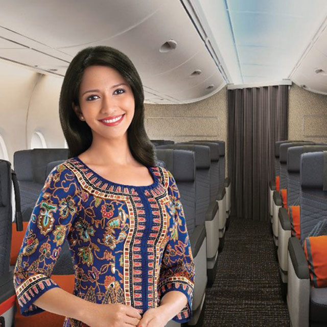 Azafata de Singapore Airlines