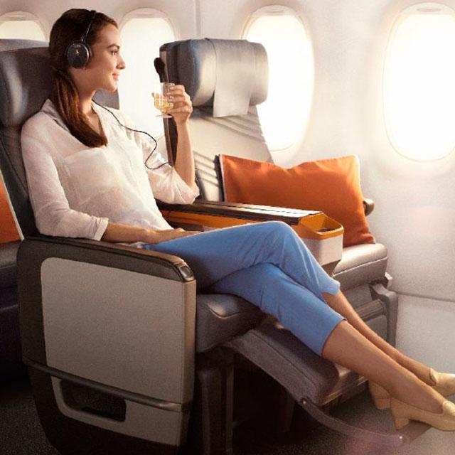 Clase turista Premium - Vuelos Singapore Airlines