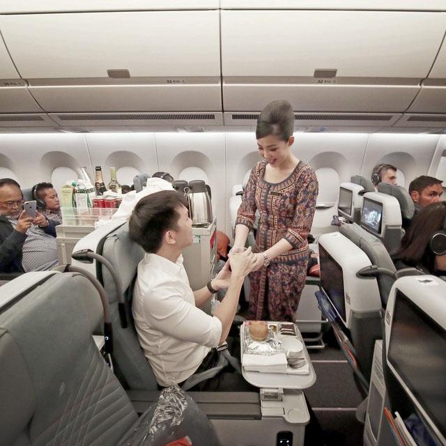 Servicio abordo - Vuelos con Singapore Airlines