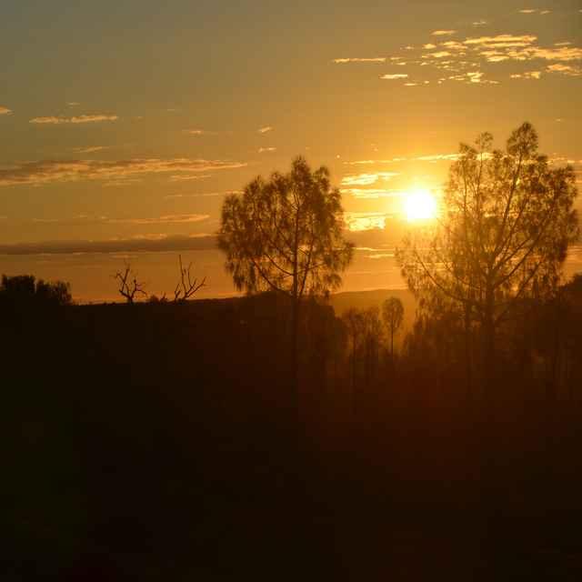 Atardecer en Uluru