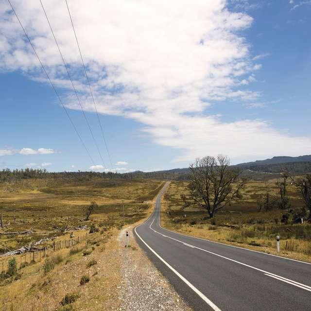 Carretera en Tasmania
